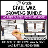 Civil War Unit Bundle   Digital Lessons and Activities
