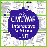 The Civil War Interactive Notebook Unit~THIRTEEN Literacy Based Lessons!