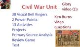 Civil War Unit: Common Core, Games, Primary Sources, Test, Activities!