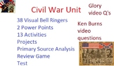 Civil War Unit: Common Core, Games, Primary Sources, Test,