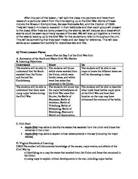Civil War Unit Plan