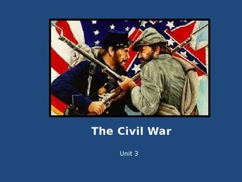 US History Civil War Unit PowerPoint