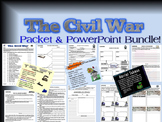 Civil War Unit Student Packet with 6 PowerPoint Presentations