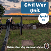 Civil War Unit for Special Education with complete lesson plans