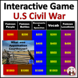 Civil War Game Activities