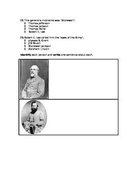 Civil War VS 7 TEST 32 questions