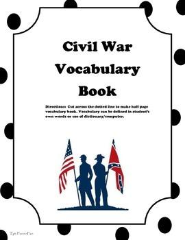 Civil War Vocab Book