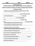 Civil War Vocab Quiz