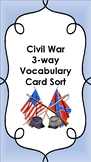 Civil War Vocabulary Card Sort