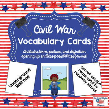 Civil War Vocabulary Cards