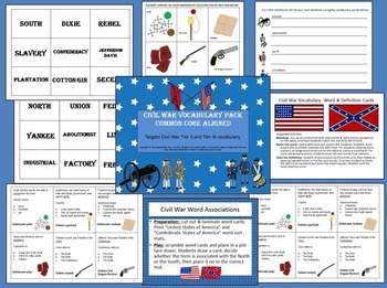 American Civil War Vocabulary Pack