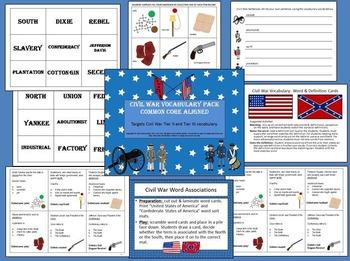 American Civil War Vocabulary Pack