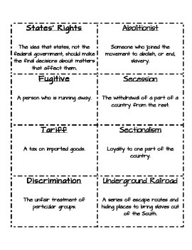 Civil War Vocabulary Pack
