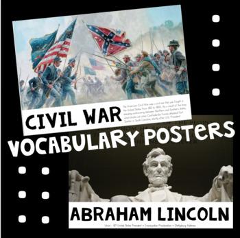 Civil War Vocabulary Posters
