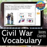 Civil War Vocabulary Review BOOM CARDS for Distance Learning