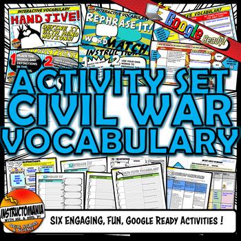 Civil War Vocabulary Set Mini Bundle