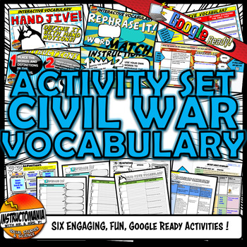 Civil War Vocabulary Set Mini Bundle