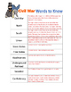 Civil War Vocabulary Words