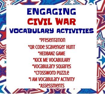 ENGAGING CIVIL WAR VOCABULARY ACTIVITIES