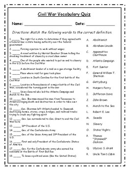 Civil War Vocabulary and BONUS---Posters