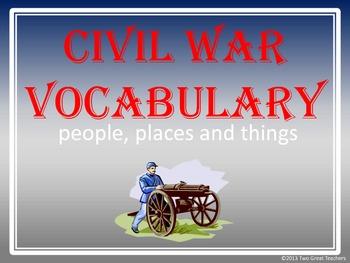 Civil War VocabularyPresentation, Activity and Booklet