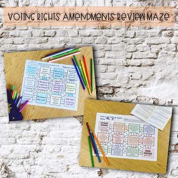 Civil War & Voting Rights Amendments Review Maze