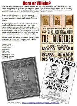 Civil War Wanted Poster Plaque Project