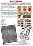 Civil War Wanted Poster & Plaque Project