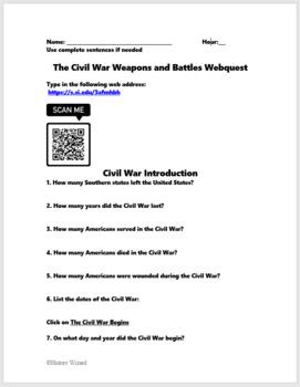 Civil War Weapons and Battles Webquest