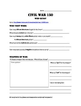 Civil War Web-Quest
