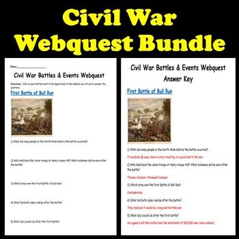 Civil War Webquest Bundle