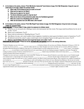 Civil War Webquest / Internet Activity