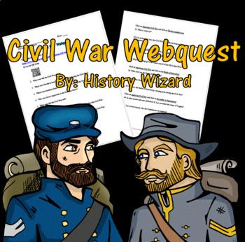 Civil War Webquest by History Wizard | Teachers Pay Teachers