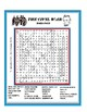 Civil War Word Search or Wordsearch Puzzle