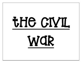 Civil War Word Wall