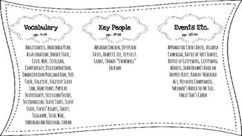 Civil War Word Wall/Bulletin Board Cards