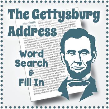picture relating to Gettysburg Address Printable known as Civil War Worksheet: Gettysburg Cover Term Seem