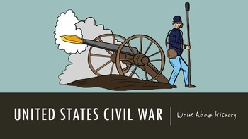 Civil War Writing Prompts and Writing Journal