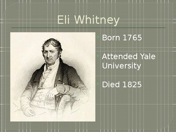 Civil War and Eli Witney PPT