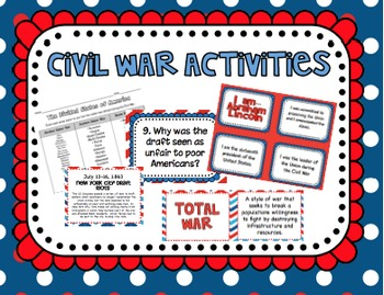 Civil War and Reconstruction Era Activities