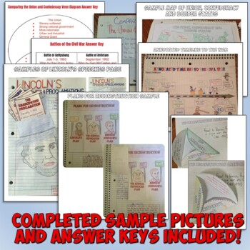 Civil War and Reconstruction Interactive Notebook Bundle
