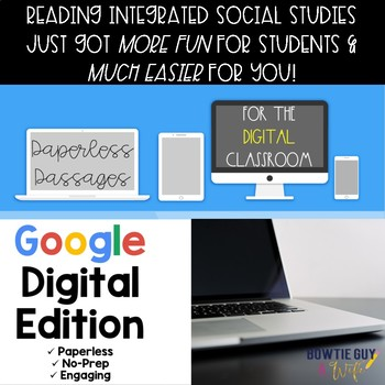 Civil War and Reconstruction Passages in Paperless Format for Google/Digital Use