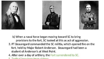 Civil War and Reconstruction PowerPoint (Detailed enough to be used for AP)