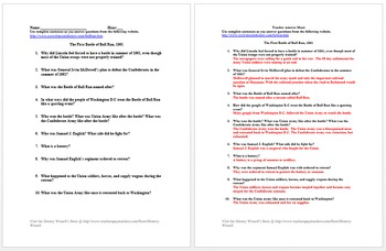 Civil War and Reconstruction Primary Source Worksheet Collection