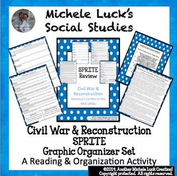 Civil War and Reconstruction SPRITE Social Studies Graphic