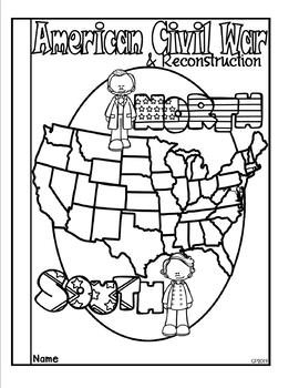 Civil War and Reconstruction Tab Booklet