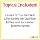 Civil War and Reconstruction Unit {lessons, study guide, a