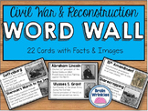 Civil War and Reconstruction Word Wall