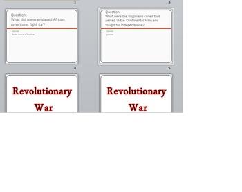Civil War and Revolutionary War Game