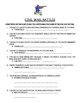 Civil War battles scramble